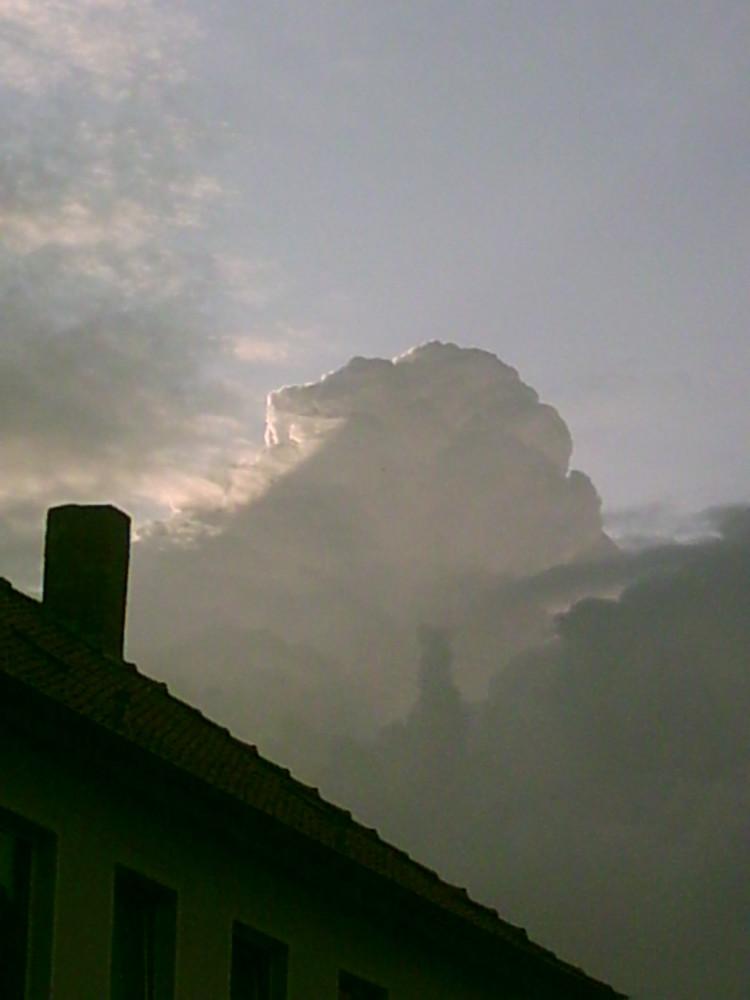 Amboswolke über Hannover