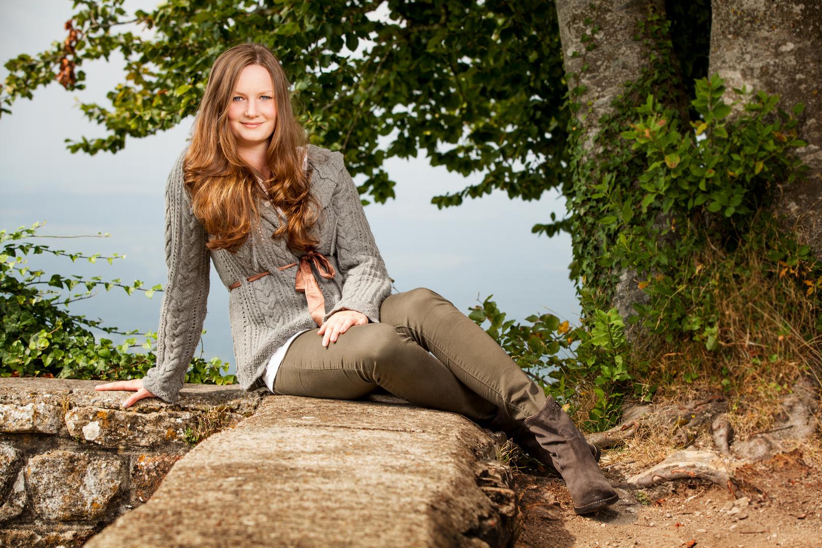 Amelie auf der Burg
