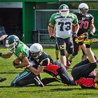 American Football - zum Schluss des Spiels noch einmal Action!