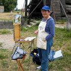 American painter in Arles, France