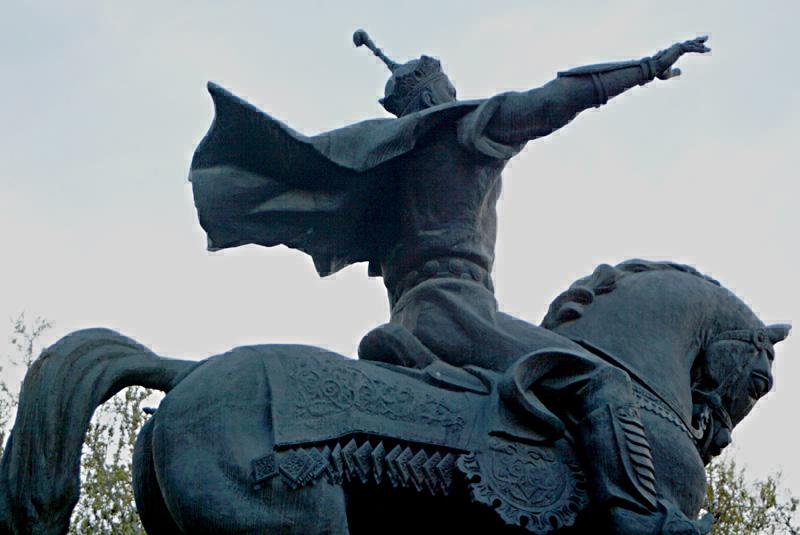 Amir Timur , Statue in Tashkent / Uzbekistan