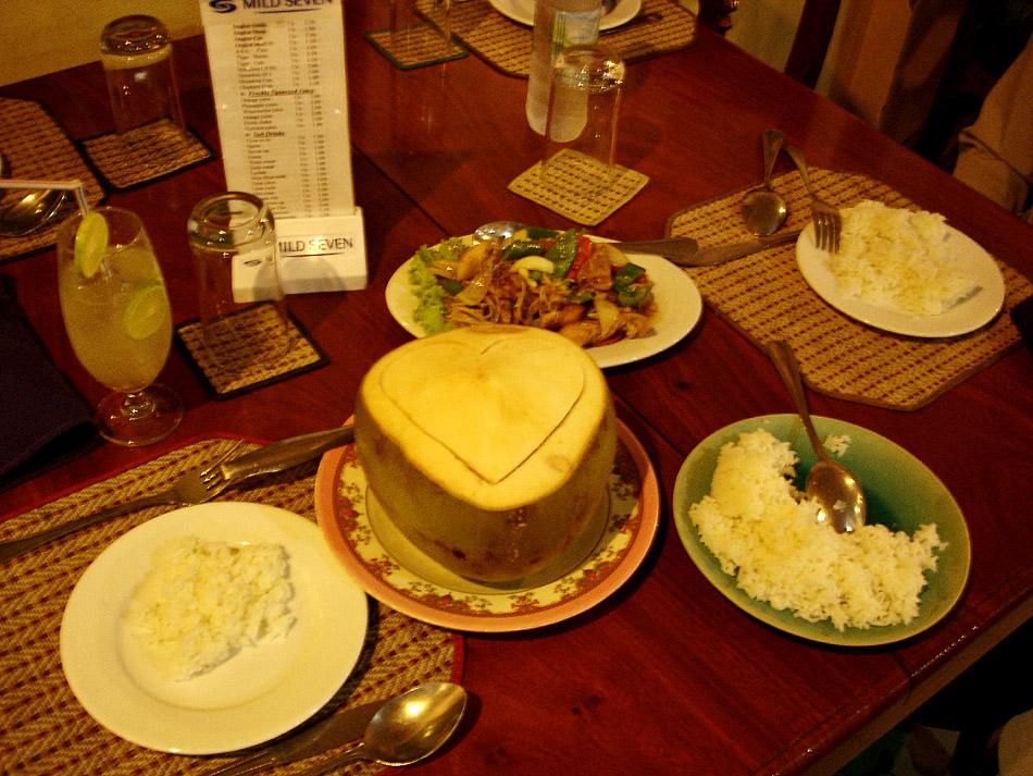 Amok fish in coconut