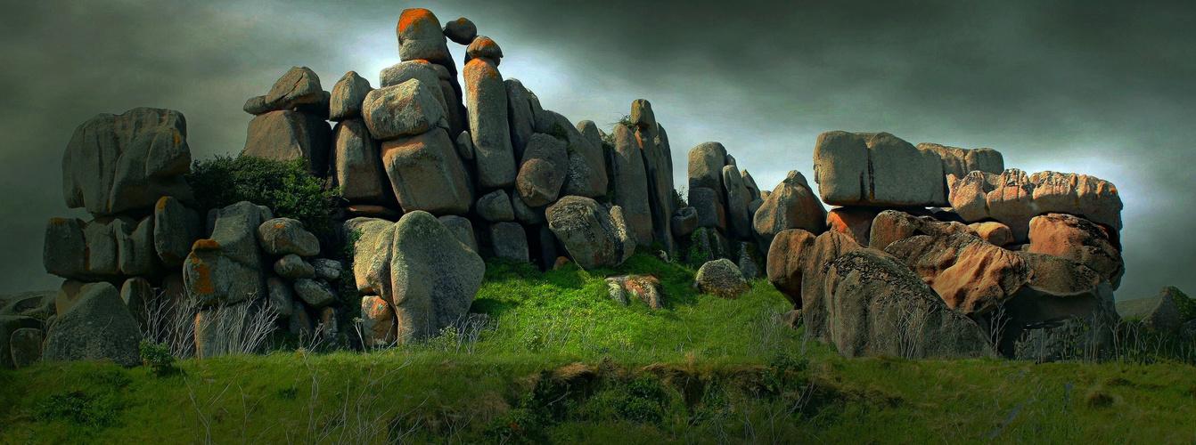 Amoncellements de rochers