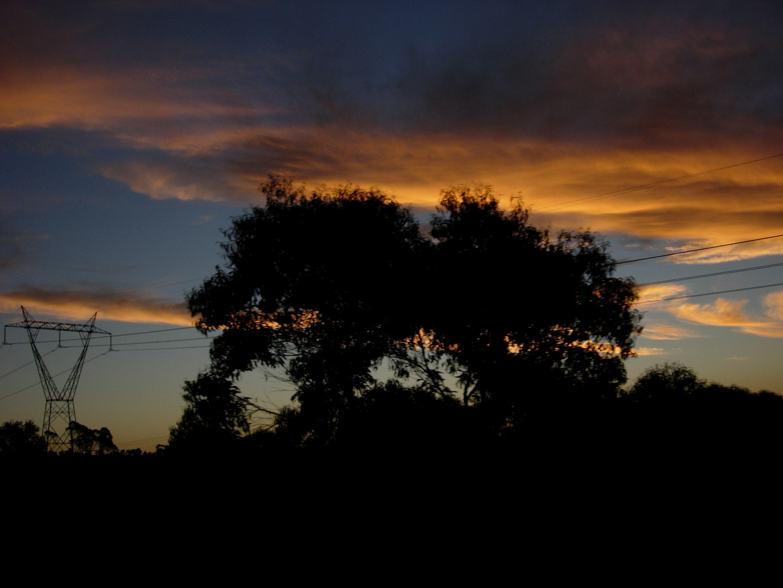 Amoureux sous un couché de soleil australien