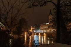 Amperbrücke nachts