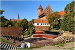 Amphitheater an der Burg in Olsztyn