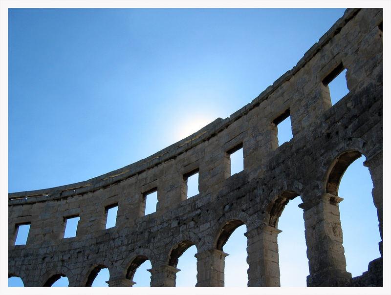 Amphitheater in Pula (Kroatien)