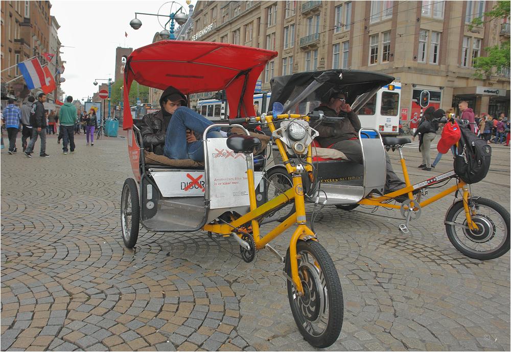 Amsterdam Bike Taxi is er klaar mee...