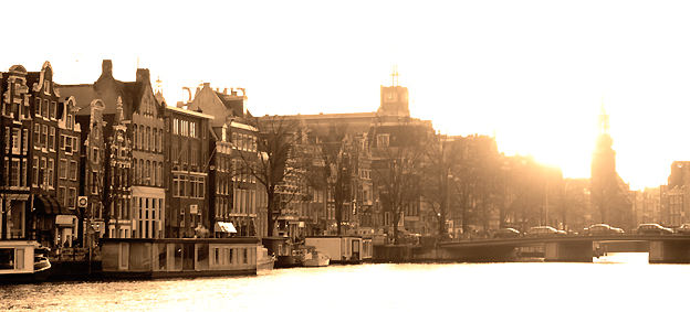 Amsterdam by sunset