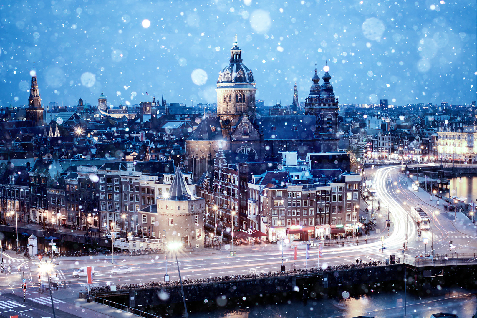 Amsterdam im Schnee