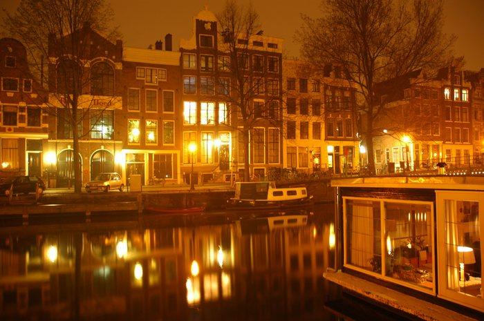 Amsterdam um Mitternacht