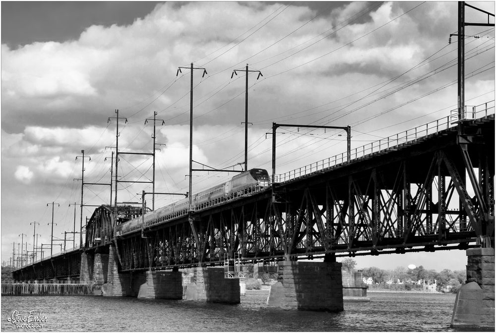 Amtrak Crossing the Susquehanna River