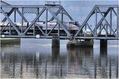 Amtrak Empire Service Train Crossing Spuyten Duyvil Swing-Bridge