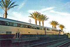 Amtrak Zug bei Los Angeles