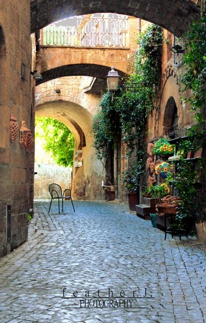 an alley.