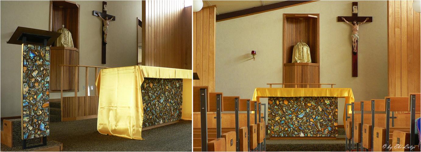 ** An Altar made of Boulder Opal / Quilpie St, Finbarr's Church **