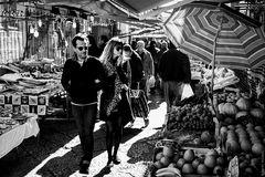 An ancient market street.