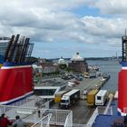 an Bord der Schwedenfähre in Kiel. Blickrichtung: Ostsee Kai. 2019