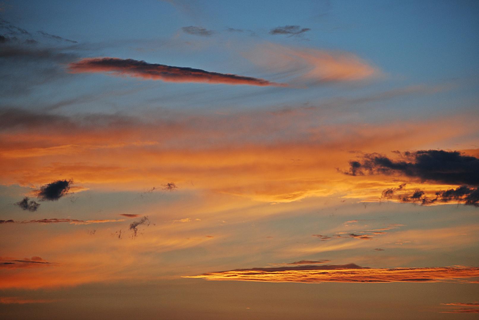 an den Himmel gemalt...