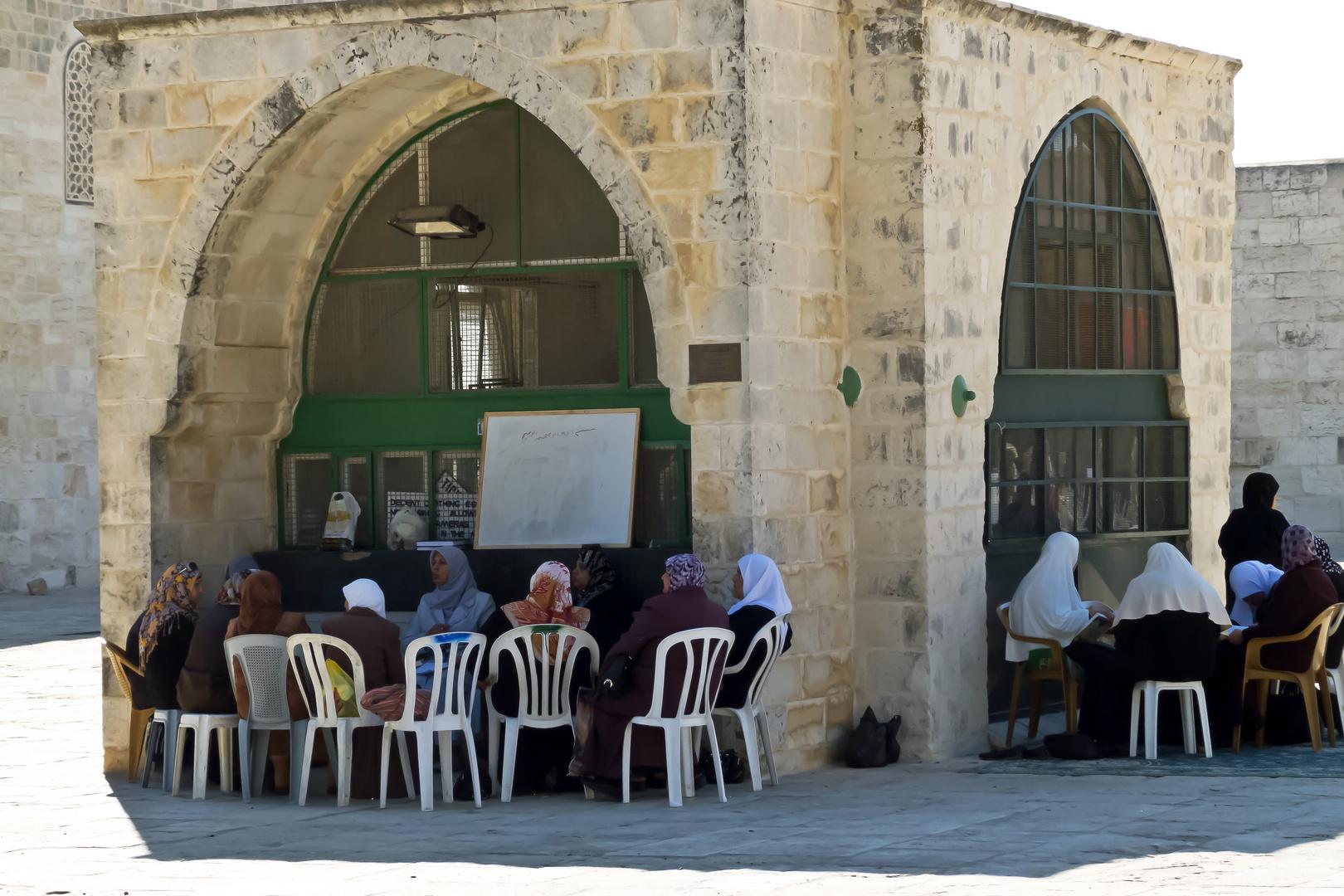 An der al-Aqsa-Moschee, Jerusalem