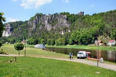 An der Elbe in der sächsischen Schweiz