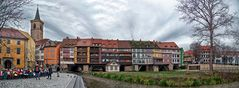 An der Krämerbrücke in Erfurt