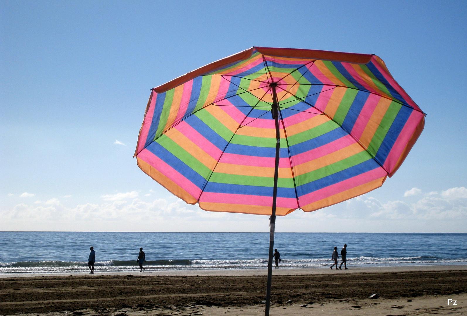 An der Playa del Ingles ...