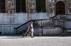An der Rathautreppe  / Belgien ist auch schön / Leuven.   DSC_1662