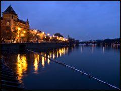 An der schönen nächtlichen Moldau