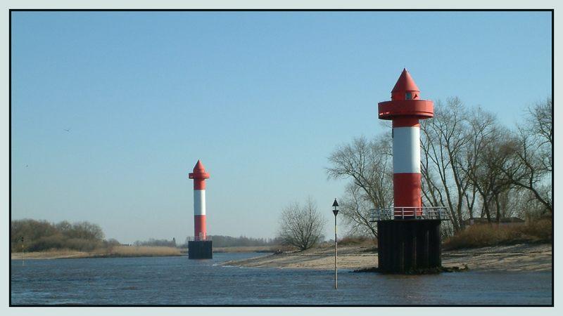 An der Weser Leuchtfeuer