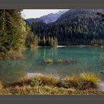 An einem Alpen-See