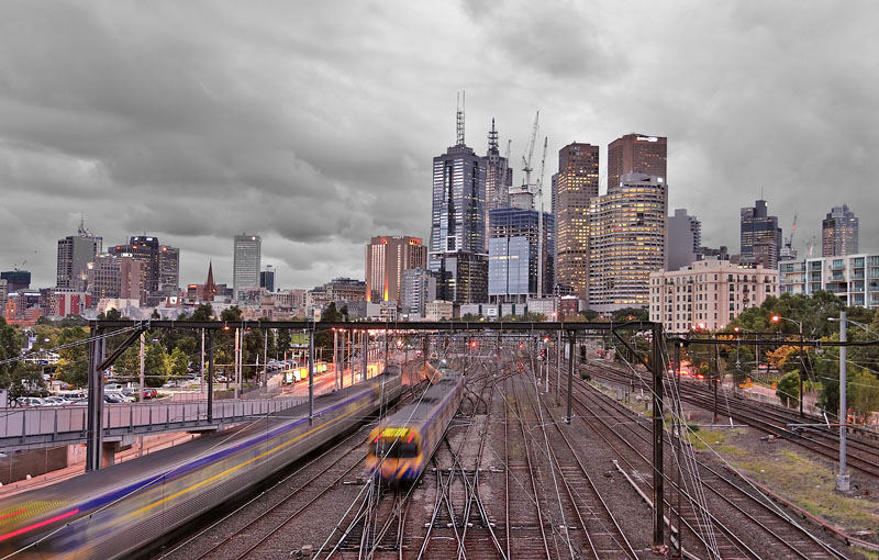 An evening in Melbourne
