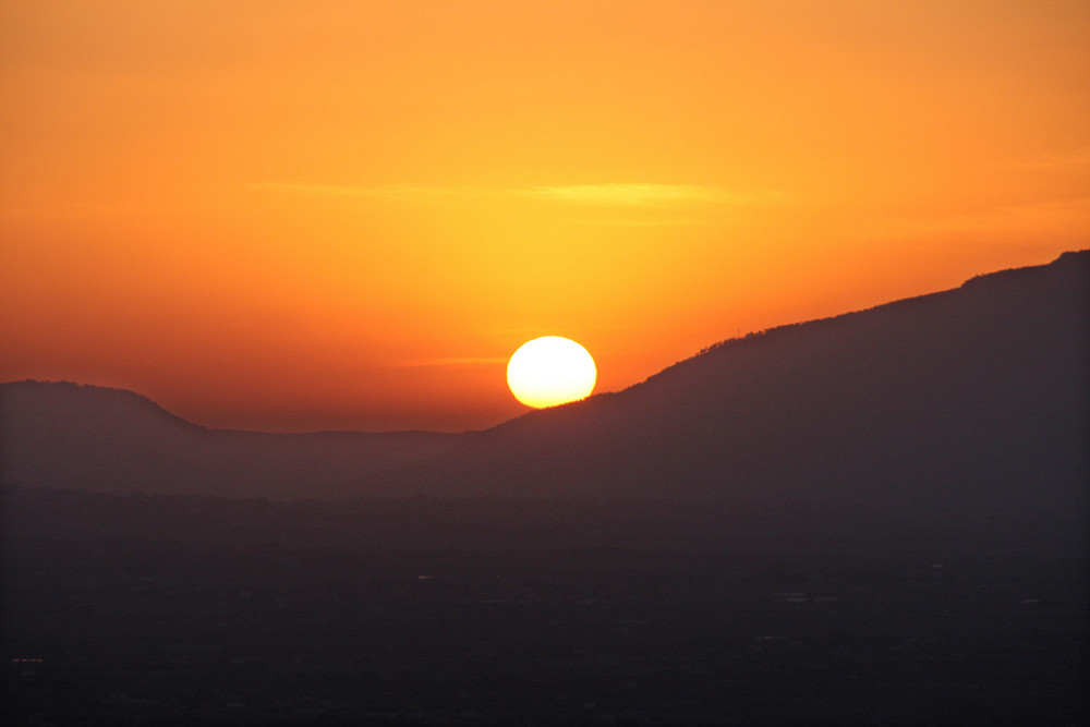 An ordinary sunset in Sicily