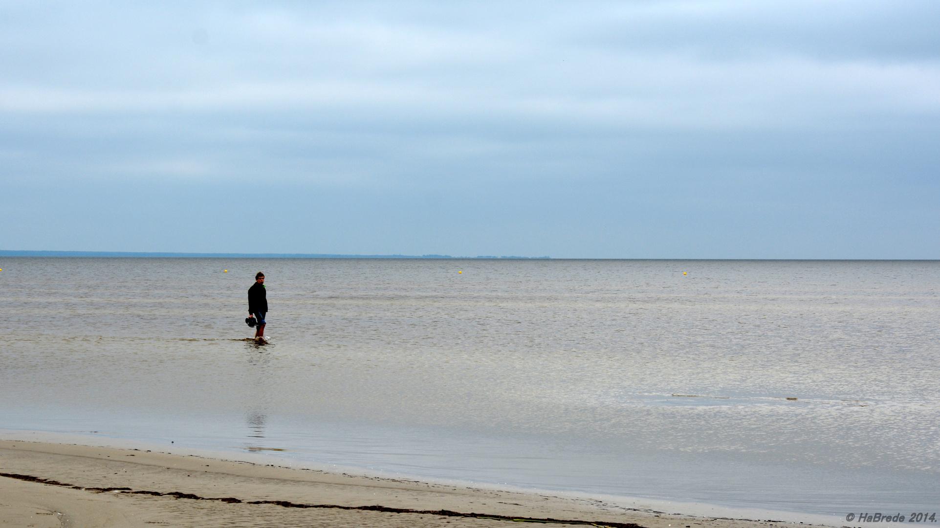 Anbaden in der Ostsee, wenn man sie für sich allein hat