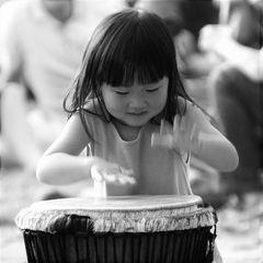 Anche io suono il bongo