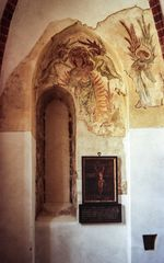 Ancient altar at St. Mary's Church Strausberg