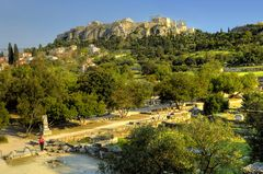 Ancient Athens: The Ruins of the Agora and the Acropolis/ Die Ruinen der Agora und die Akropolis
