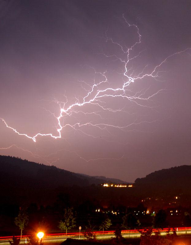 And it struck me like lightning
