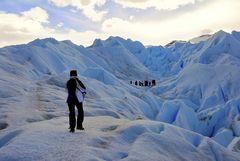 Andando por el glaciar