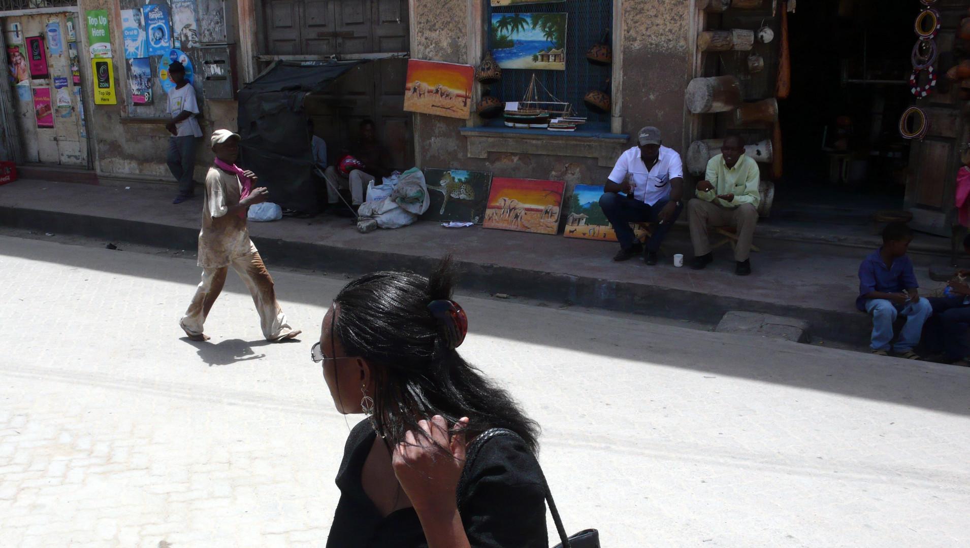 Andenkenverkäufer in Mombasa
