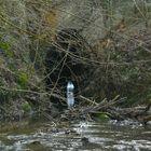 Andere Seite der künstlichen Tunnelhöhle in der Plombières-Mine (B)