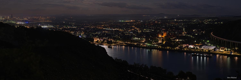 Andernach XXL Panorama unter Vollmond