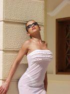 Andreea in der Hotelanlage