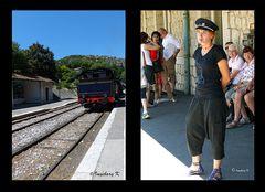 Anduze - Der Zug kommt -