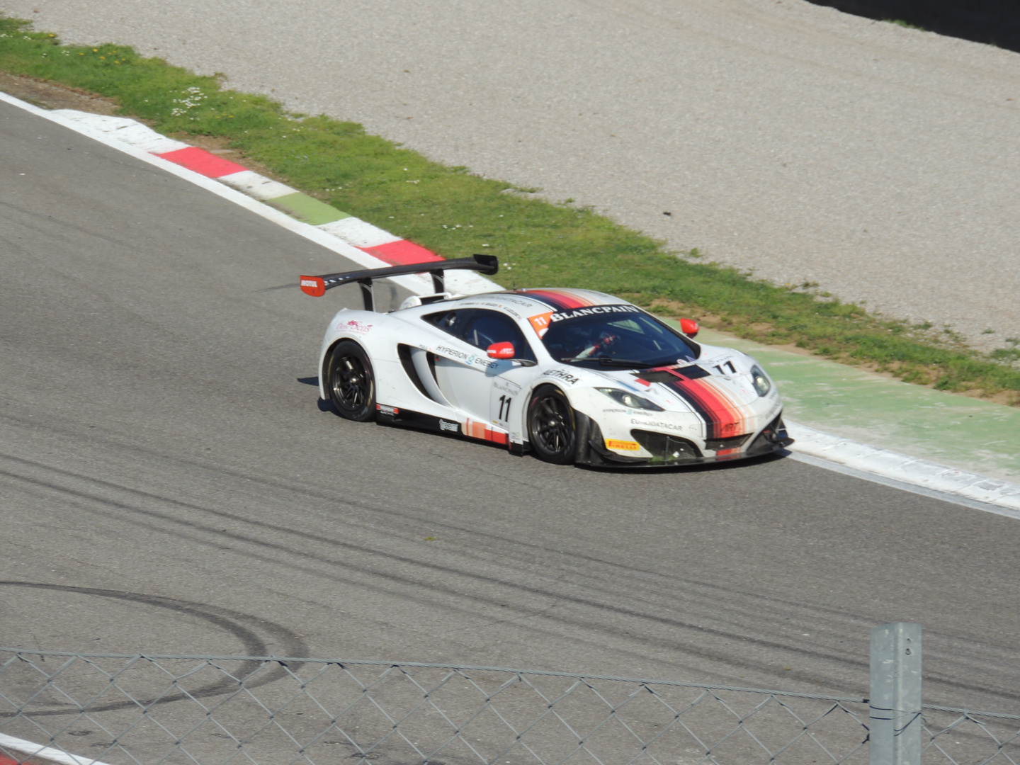 Andy Soucek in Aktion, Monza