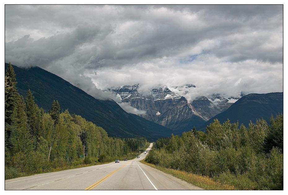 Anfahrt auf Mount Robson Provincial Park