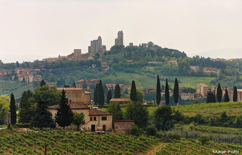 Anfahrt nach San Gimignano