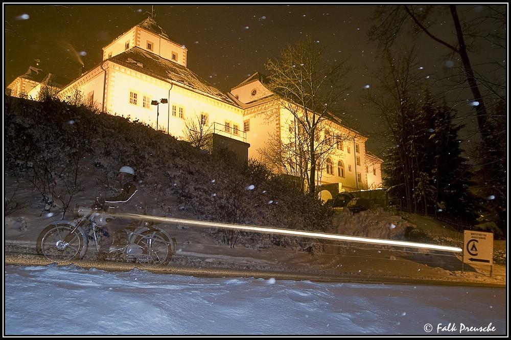 Anfahrt zum Wintertreffen Augustusburg 2010