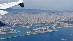 Anflug auf Barcelona