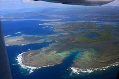 Anflug auf die Insel Malekula- Vanuatu